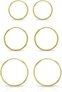 Best 10k gold hoop earrings Reviews