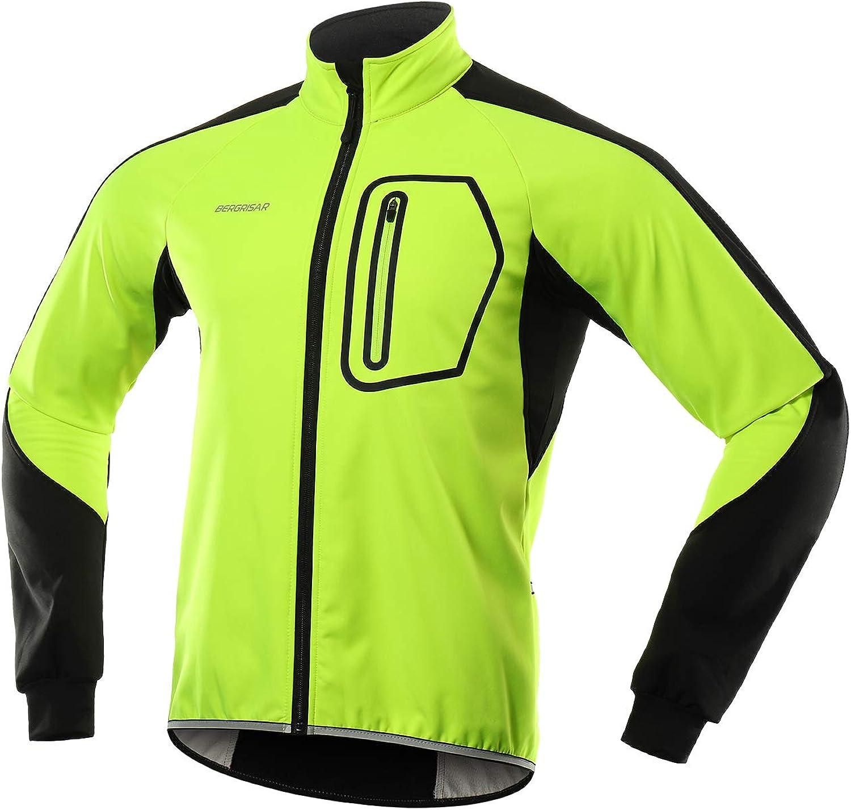 BERGRISAR NEW before selling Men's Winter Softshell Jacket gift Wate Cycling Windbreaker