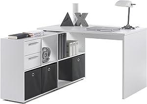 """Eckschreibtisch Winkelkombination Schreibtisch Arbeitstisch Bürotisch """"Yihabo I"""" in weiß"""