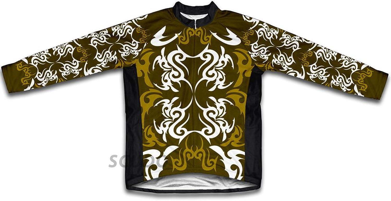 Green Black Tattoo Sheme Winter Thermal Cycling Jersey for Women