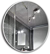 Bathroom Vanity Mirror,Wall-Mounted Mirror, Wall Mounted Round Bathroom Wall Hanging Makeup Mirror Aluminum Frame Nordic S...