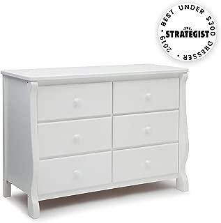 Delta Children Universal 6 Drawer Dresser, White