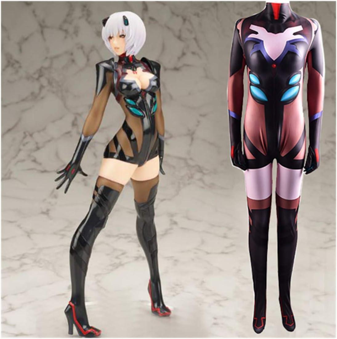 Girl Eva Ayanami Rei Cosplay Kostuum Neon Genesis Evangelion Bodysuit Masquerade Fancy Dress Outfit Halloween Kerst Zentai Jumpsuit,Woman/L 160~165cm Woman/XXXL 175~180cm