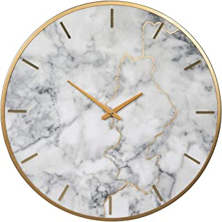Ashley Furniture Signature Design - Jazmin Wall Clock - Contemporary - Gray/Gold Finish