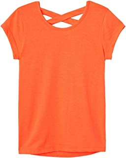 French Toast Girls' Short Sleeve Cross Back Top