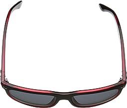Black Matte on Red Transparent/Dark Gray