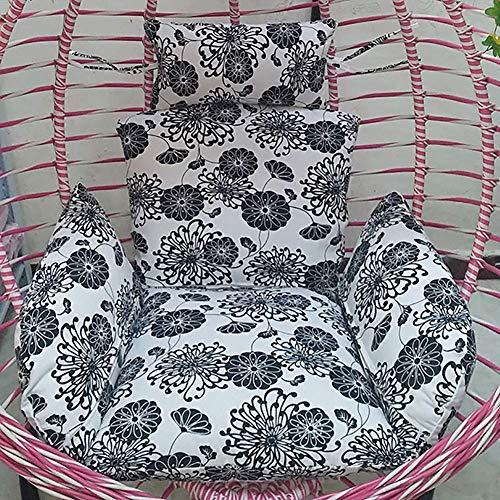 NOSSON Swing Cushion, Swing Hanging Basket Sitzkissen Dick mit Reißverschluss Abnehmbare Stuhllehne Pp Wattepads Eiernest R (nur Kissen)