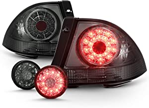 ACANII -For Smoke 2001-2005 Lexus IS300 Lumiled LED Tail Lights+LED Inner Trunk Lamp 4pc Rear Brake Replacement Assembly