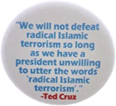 "QTY 5 Utter words radical islamic terrorism Ted Cruz Quote 2.25"" Bottle Openers"