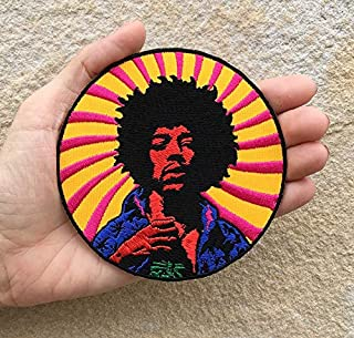 Jimi Hendrix Embroidered Iron on/Sew on Patch Little Wing Experience Voodoo Child Woodstock Sixties Music Rockstar