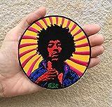 Parche de banda de rock, inspirado en Hendrix, bordado para coser o planchar, Woodstock Sesenta Music Rockstar Applique para mochilas, sombreros, chaquetas, vaqueros, etc.