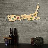 Nouvelle zélande Bière Casquette Carte Bois Casquette Titulaire Skyline Atelier Bière Artisanat Pour Amateurs De Bière Mur Décor 109 Couleurs à Choisir