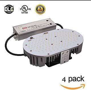 LED Flying Direct 4-Pack 150W LED Shoe Box Retrofit Kit Light Replace 300-450W MH/HPS Street Lamp, Flood Light, Parking Lot Light, E39 Mogul Base, 20250lm UL DLC Approved MEANWELL Driver