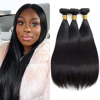 9A Brazilian Straight Human Hair Bundles 16 18 20 Inch Total 300g 3 Bundles Straight Hair 100% Real Human Hair Fast Shipping