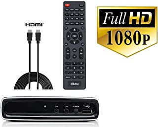 Exuby Digital Converter Box for TV and HDMI Cable for Watching & Recording Full HD Digital Channels - Instant & Scheduled Recording, 1080P, HDMI Output, 7 Day Guide & LCD Screen - No Subscriptions