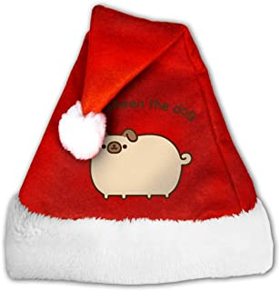 Satan Christmas Hat Santa Hat with Plush Brim