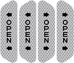 4Pcs Car Door Safety Warning Mark Open Reflective Stickers for SsangYong Actyon Turismo Rodius Rexton Korando Kyron Musso Sports Silver