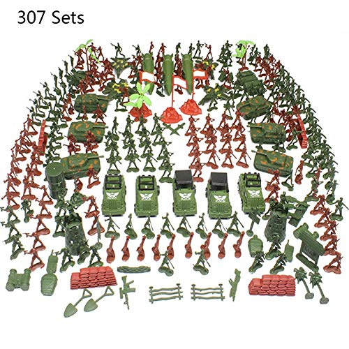 popchilli Plastic Toy Soldiers,Military Toy Soldiers Plastic Military Accessories Set,4-9 Cm Toy Soldiers Army Toys Traditional Green Plastic For War Games Army Military Toy