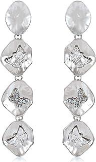 PHALIN Butterfly Earrings Metal Cute Butterfly Dangle Drop Earrings for Women Long Tassel Earrings Animal Stud Earring for...
