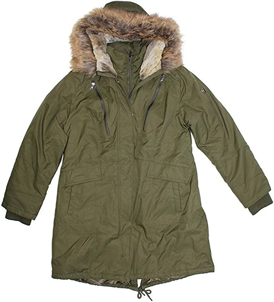 1 Madison Expedition Women's Faux Cheap sale Fur Parka Max 75% OFF Jacket Hooded