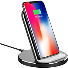 Wireless Charger Stand, XUNMEJ Qi Fast Wireless Charger Charging Pad Stand for Phone X, XS, XS Max, XR iPhone 8/8 Plus, Galaxy S9 /S9 Plus/Note 8/ S8/ S8 Plus, All Oi-Enabled Devices