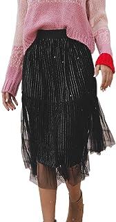 Kaister Damen Organza 50s Vintage Rockabilly Petticoat Under Skirt Mesh tüllrock