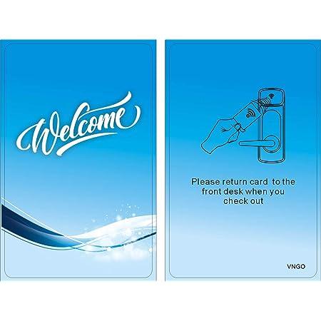 Inntech Mini Hotel RFID Keycards 100 PK 13.56Mhz 1K Blue Keycard