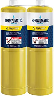 (2) 14.1 oz Bernzomatic Pre-Filled MAP-Pro Gas Torch Style Cylinder - Pack of 2