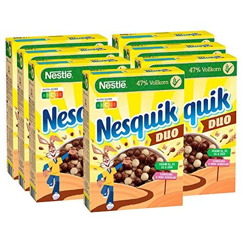 NESTLÉ Nesquik Duo, braune und weiße Schoko Cerealien mit Vollkorn, 7er Pack (7 x 325 g)
