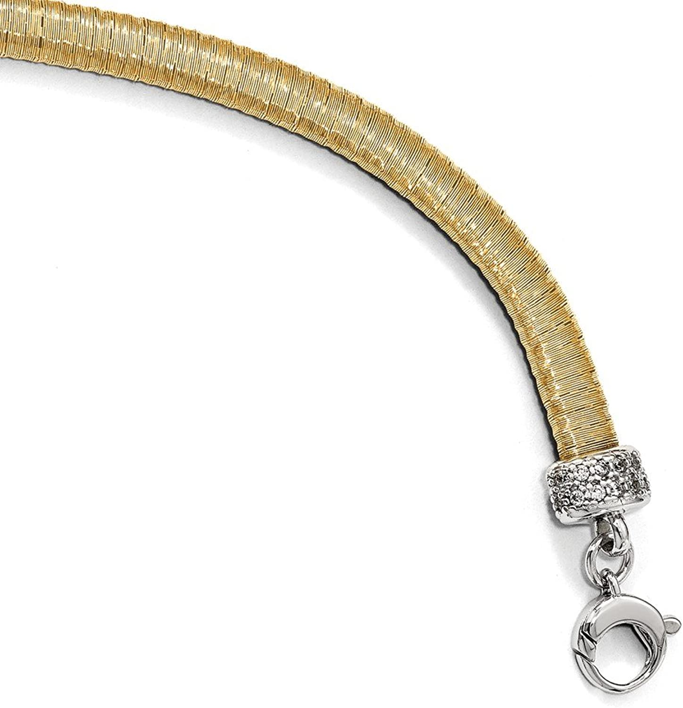 925 Sterling Silver goldtone CZ Bracelet