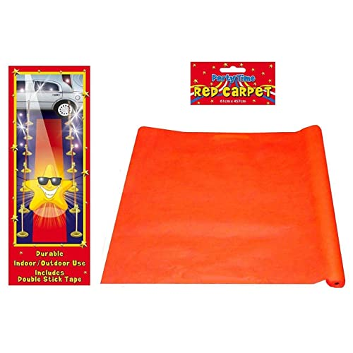 4.5m Red Carpet Hollywood Floor Runner Oscars VIP Party Aisle Decoration Prop Event Awards Evening