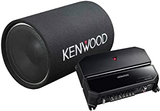 Kenwood 12-Inch Cylindrical Subwoofer and 2-Channel Amplifier