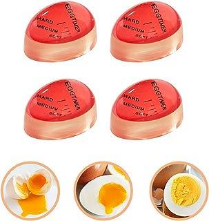 Egg Timer, 4 Pack Heat Sensitive Hard Medium Soft Boiled Egg Timer Color Changing Indicator Reusable Egg Cooking Timer