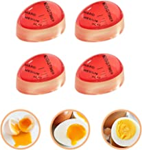 Egg Timer, 4 Pack Heat Sensitive Hard Medium Soft Boiled Egg Timer Color Changing Indicator Reusable Egg Cooking Timer