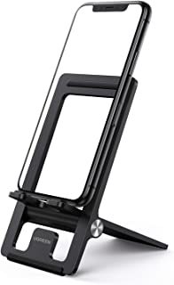 UGREEN Phone Stand Foldable Cell Phone Desk Holder Adjustable Compatible for iPhone 12/12 mini/12 Pro/12 Pro Max 11 Pro Ma...