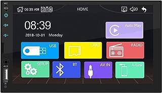 """カーオーディオとビデオディスプレイ FidgetFidget Apple CarPlayマルチメディアプレーヤー用 800*480 7""""HDカーステレオラジオUSBリンク(カメラなし)"""