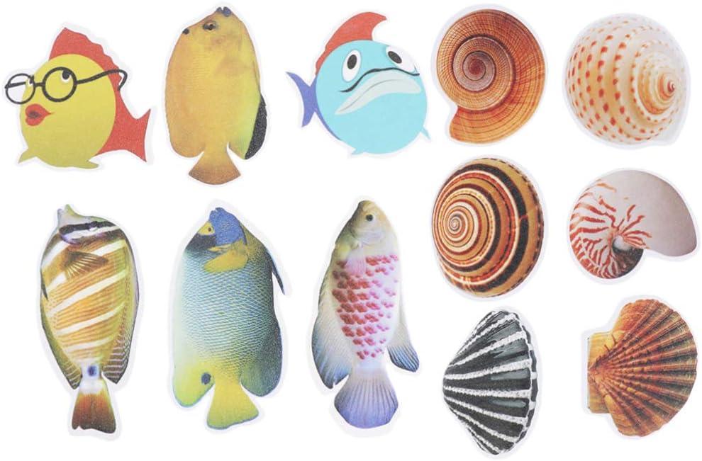 Cabilock New sales free shipping Pcs Non-Slip Bathtub Stickers Cartoon Bat Adhesive Fish