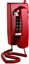 $32 » Yopay Old Style Retro Wall Phone, Landline Corded Novelty Telephone with Handset Volume Control for Home, Hotel, Bathroom,...