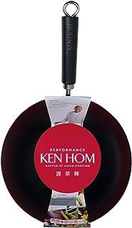 Ken Hom Wok Anti-adhésif en Acier Carbone - Noir - 32cm