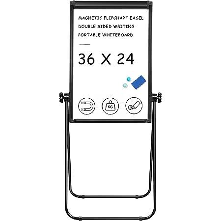 Stand White Board - 36x24 Magnetic Dry Erase Board Flipchart Easel Whiteboard Double Sided Easel Board Portable Whiteboard