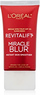 L'Oreal Paris Skincare Revitalift Miracle Blur Instant Skin Smoother, Facial Cream with SPF 30, 1.18 fl. oz.