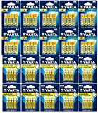 80 Varta Superlife Zink-Kohle Batterien (40x AA Mignon + 40x AAA Micro) Blister