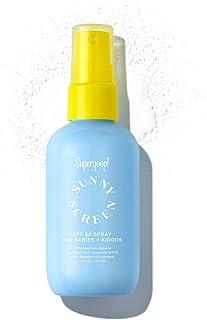 Supergoop! Sunnyscreen 100% Mineral Spray SPF 50, 3.4 fl oz - Face & Body Sunscreen for Babies & Kids - 100% Non-Nano Mine...