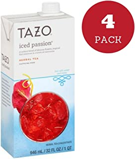 Tazo Iced Passion 32 oz (Pack of 4)