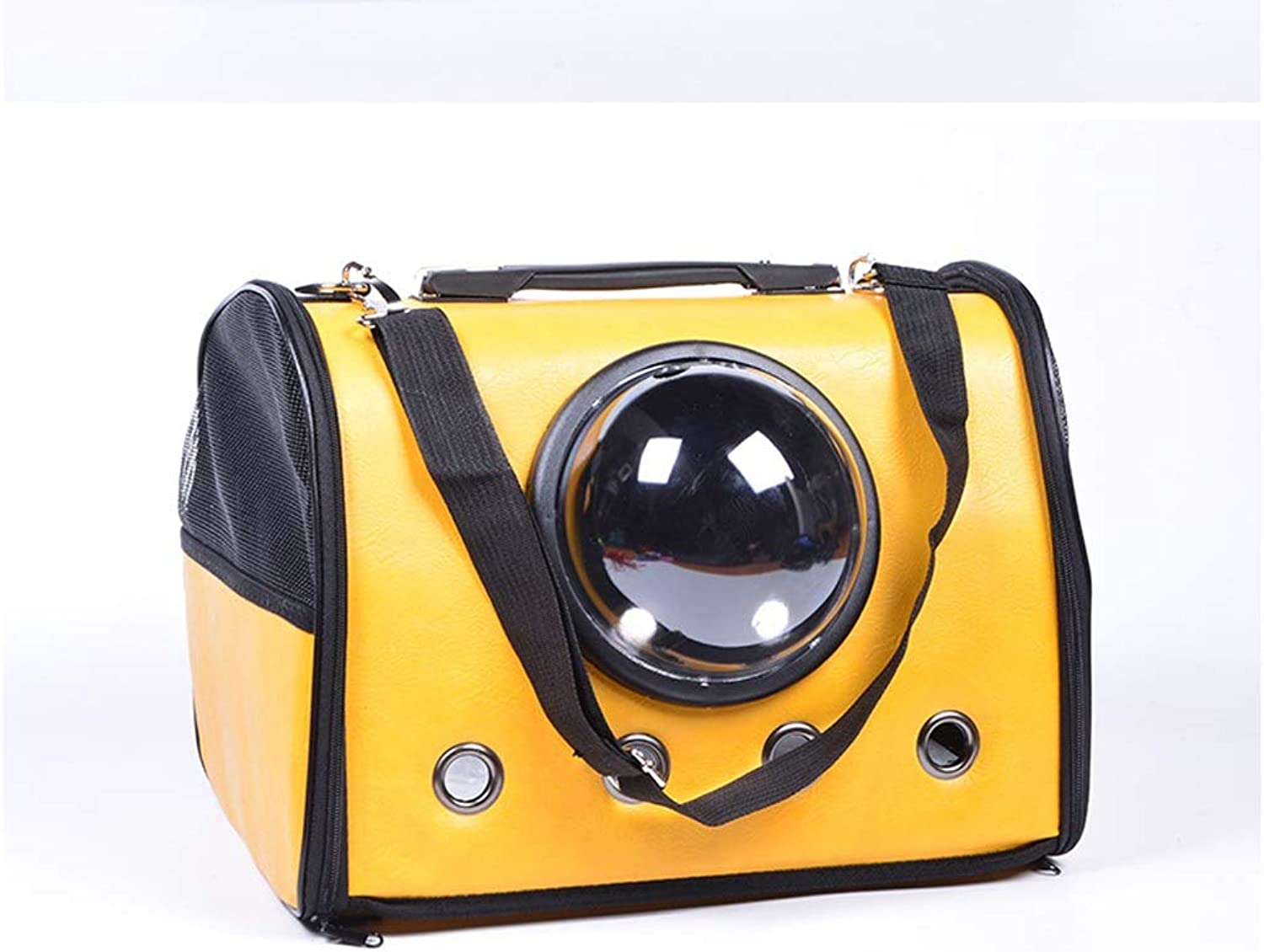 Pet Travel Bag Pet Supplies Travel Bag Fashion Large Hole Breathable Portable Space Pet Cabin Breathable Cat Dog Handbag Shoulder Bag.