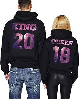 King Queen Hoodies Matching Couple Hoodies His&Her Hoodies