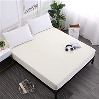 Polyester Matress Cover NGLSLL 100% Waterproof Mattress Protector Bed Anti-mite Anti-dust Anti-Slippery and Washable Mattress Cover,Cream,Coloured,150x200x30cm