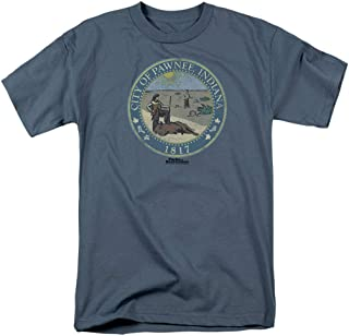 Parks and Recreation Distressed Pawnee Seal T Shirt & Stickers
