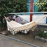 KEKEK ins Style 2 Person Hammock Boho Large Brazilian Macrame Fringe Double Deluxe Hammock Swing Net Chair Outdoor Indoor Hanging Deco