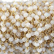 8mm Airssory 50 Pcs Natural White Jade Crystal Semi-Precious Gemstone Bead Strands Dyed Round Ball Stone Beads Bulk for Jewellery Making